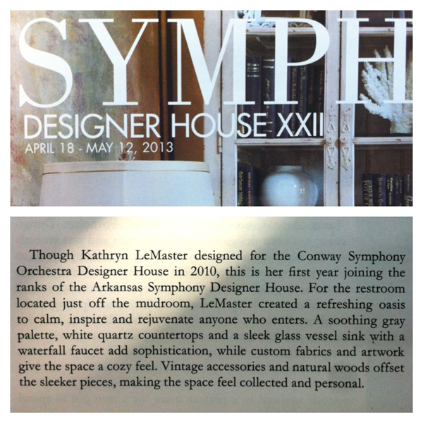 Symphony Designer House publication by At Home in Arkansas